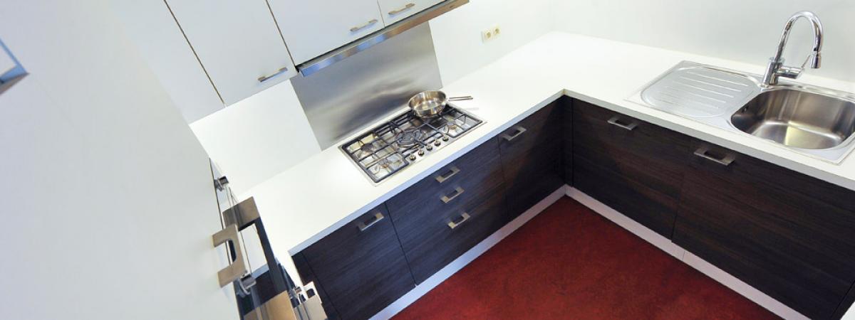Keuken, vakantie appartement, Koksijde