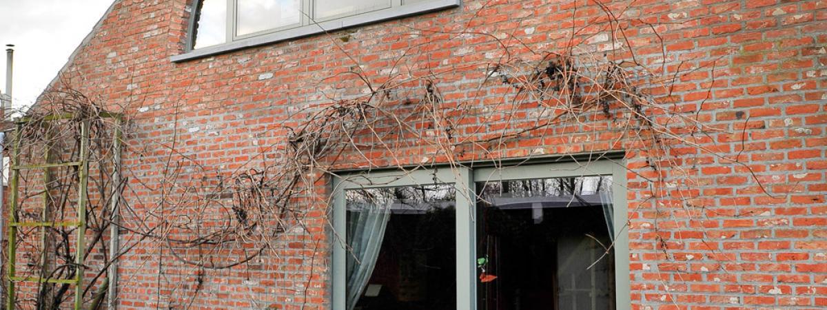 totaalrenovatie + buitenschrijnwerk, aluminium privé woning Evergem, uitbreiding privé woning Evergem